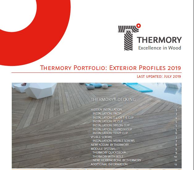 Thermory decking and cladding